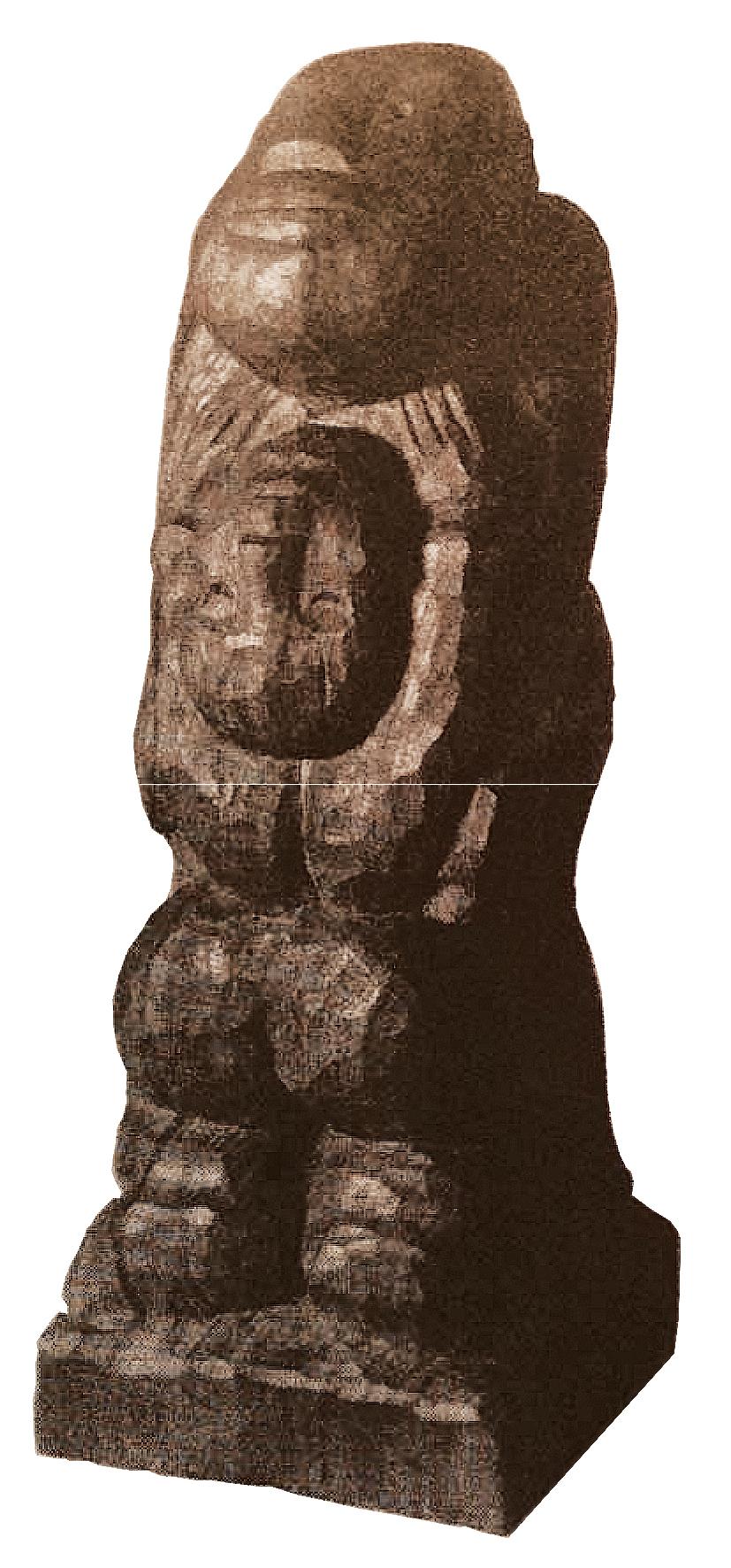 Ernest Mancoba, wood sculpture