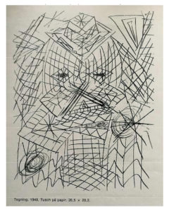 Ernest Mancoba, pen on paper, private collection