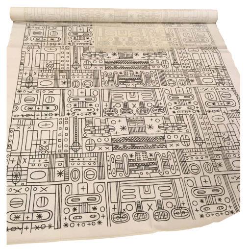 Ernest Mancoba, textile, Jorn Museum, Helga Foght workshop