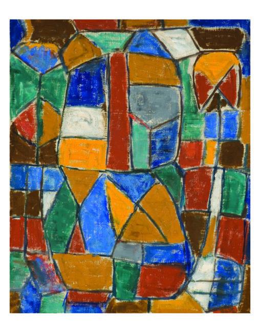 Ernest Mancoba, oil on canvas, Johannesburg Art Gallery
