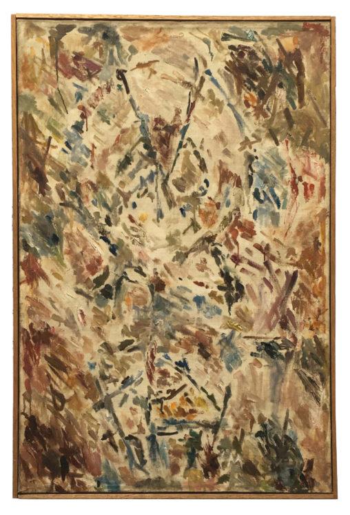Ernest Mancoba, L'Ancêtre, oil on canvas, Johannesburg Art Gallery