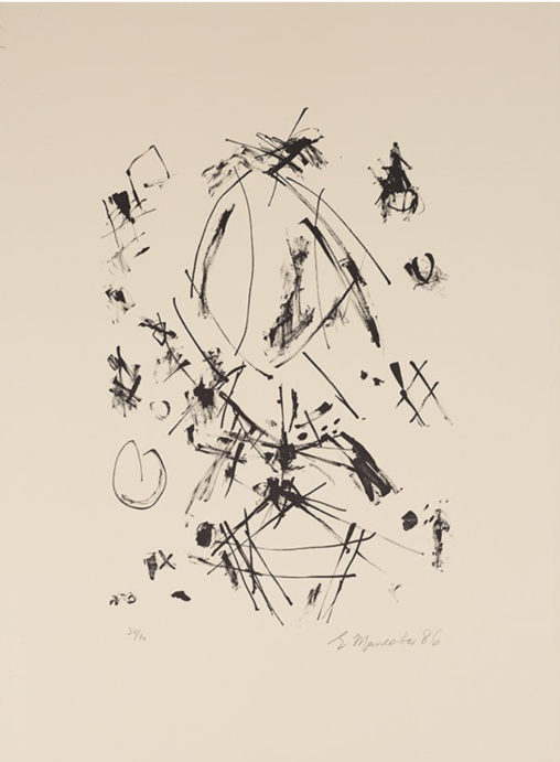 Ernest Mancoba, lithograph