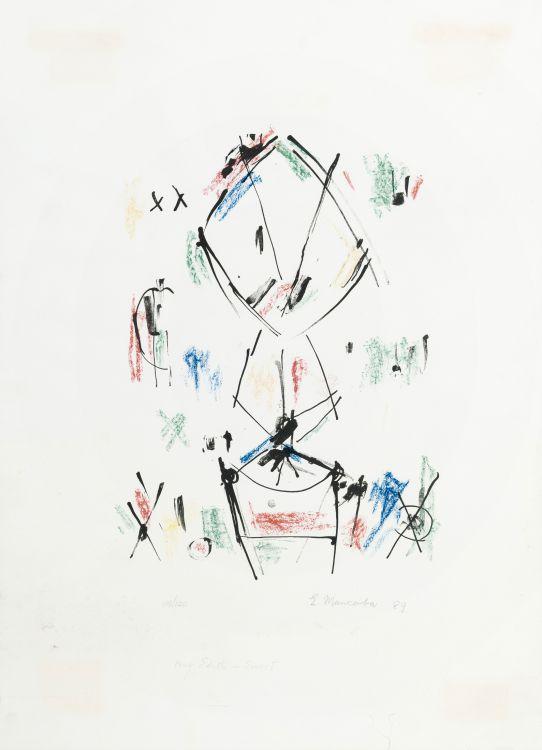 Ernest Mancoba, lithograph, Jorn Museum