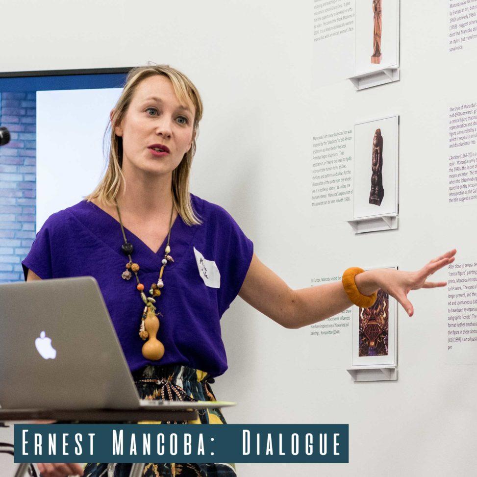 Centre Pompidou Curator Alicia Knock giving her talk