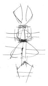 Ernest Mancoba, ink on paper, Aarhus Museum