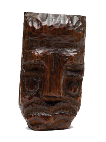 Ernest Mancoba, wood sculpture, private collection, 1936