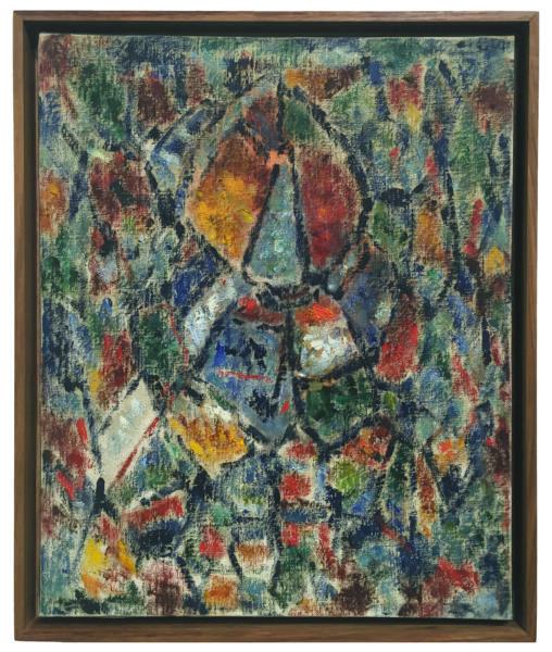 Ernest Mancoba, oil on canvas, A4 Foundation