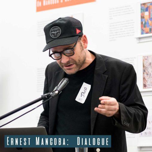 Artist Jaco van Schalkwyk giving his talk
