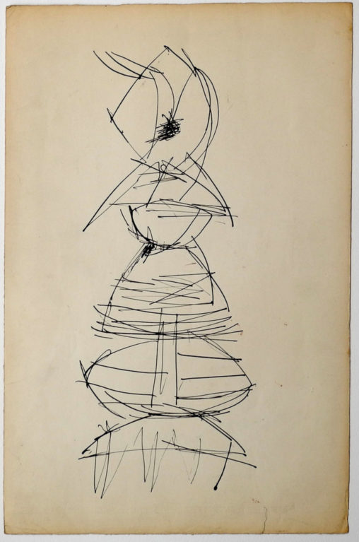 Ernest Mancoba, ink on paper